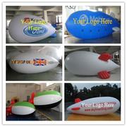 6M Inflatable Advertising Blimp /Flying Giant Helium Airplane /YR logo